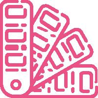 Icône Graphiste - Palette de couleur